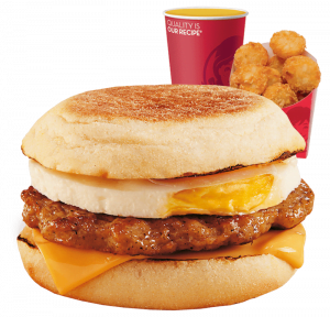 Wendys Desayuno Muffin Deluxe